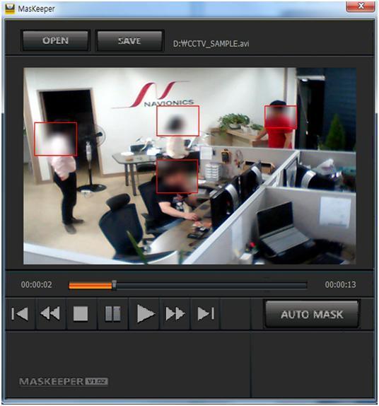 마스키퍼는 ▲CCTV보행자 자동 추적·감시 ▲다중 안면 인식 기술 ▲다중 등급 보안 접근통제기술 ▲사용 이력 관리 등을 특징으로 하고 있다.